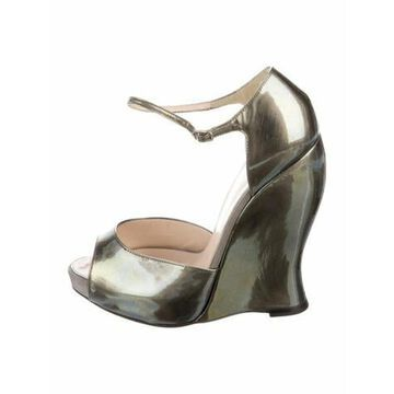 Patent Leather D'Orsay Pumps Green