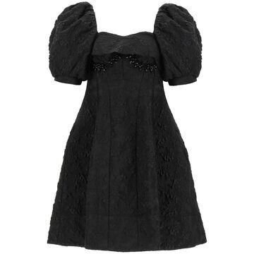 Simone Rocha Jacquard Cloque Mini Dress