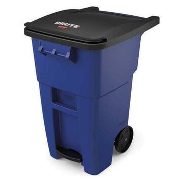 Rubbermaid 1971958 Brute Step-On Rollouts, Square, 50 Gal, Blue