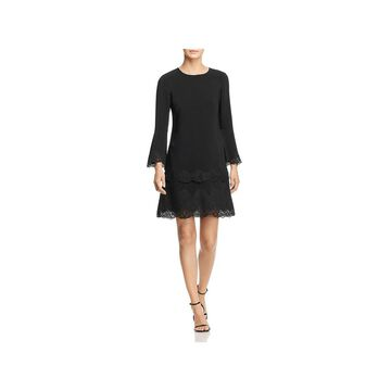 Kobi Halperin Womens Tate Party Dress Lace Trim Bell Sleeves