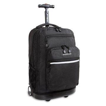 J World Sundance Laptop Rolling Backpack, Black