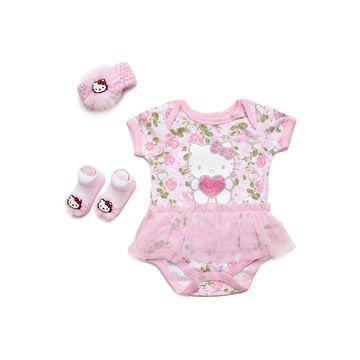 Hello Kitty 3-pc. Hello Kitty Baby Clothing Set-Baby Girls