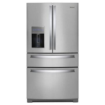 Whirlpool 26.2-cu ft 4-Door French Door Refrigerator with Ice Maker (Fingerprint-Resistant Stainless Steel)