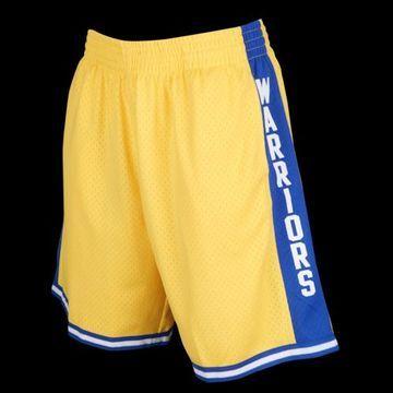 Mitchell & Ness NBA Swingman Shorts - Golden State Warriors - Yellow