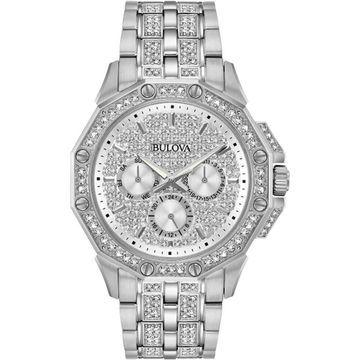 Bulova Mens Octava Silver Watch