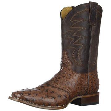 ROPER Mens Deadwood Square Toe Cognac Boots