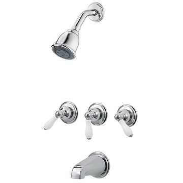 Pfister 01 Series Three Handle Tub And Shower Chrome
