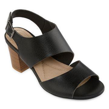 Yuu Womens Smirk Heeled Sandals