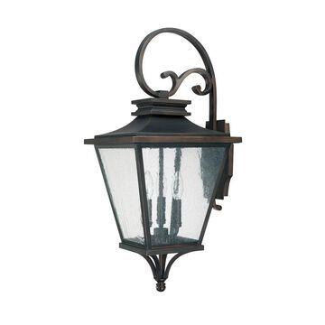 Gentry 3-light Old Bronze Outdoor Wall Lantern