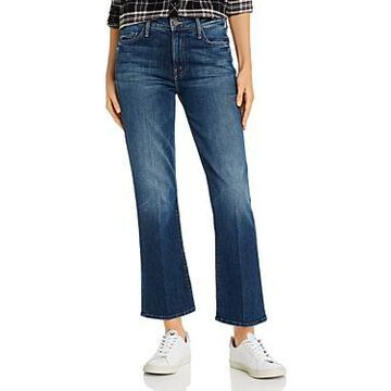 Mother The Outsider Ankle Flare Jeans in Roasting Nuts