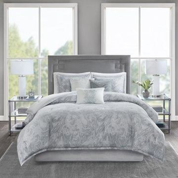 Home Essence Karlene 7 Piece Cotton Sateen Comforter Set