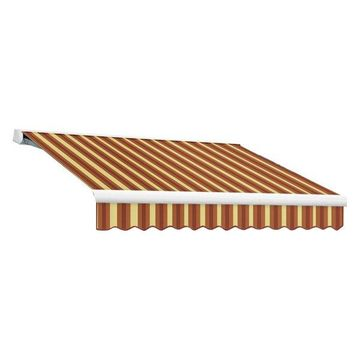 14' Key West Manual Retractable Awning, Burgundy/Tan Wide