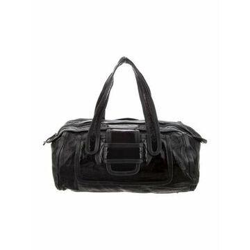 Patent Leather Shoulder Bag Black
