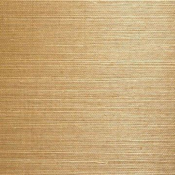Kenneth James Chang Taupe Grasscloth Wallpaper