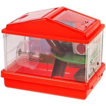 IRIS 2-Tier Hamster Cage, Blue