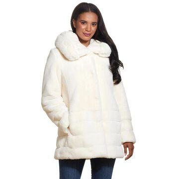 Women's Gallery Hooded Tiered Faux Fur Jacket