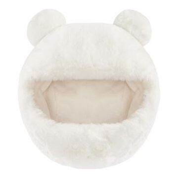First Impressions Baby Boys and Girls Solid Faux Fur Pom Hat, Created for Macy's