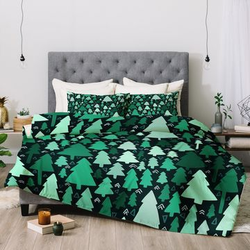 Deny Designs Trees 3-Piece Comforter Set