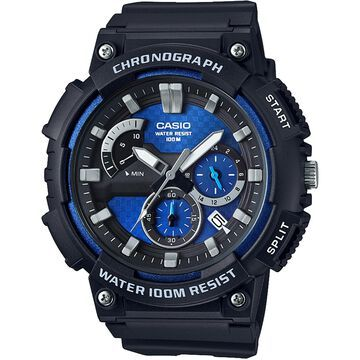 Casio Men's Chronograph Black Resin Strap Watch 53.5mm