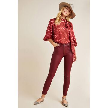 Ella Moss The High-Rise Coated Skinny Ankle Jeans