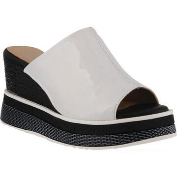 L'Artiste by Spring Step Women's Alurrin Wedge Slide White Patent Leather