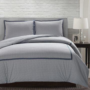 Pacific Coast Textiles 3Pc 100% Cotton Comforter Cover Set