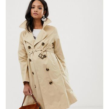 Mamalicious maternity mac jacket-Tan