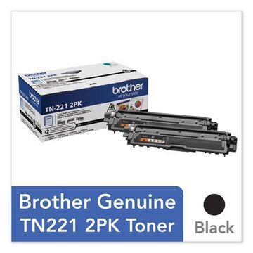 TN2212PK Toner, 2500 Page-Yield, Black, 2/Pack