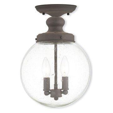 Livex Lighting 2-Light Bronze Ceiling Mount