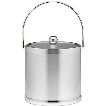 Kraftware Americano Table Ware - 3 quart Ice Bucket, Lid - Metal Lid