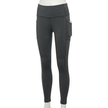 Women's Tek Gear High-Waisted Shapewear Leggings, Size: XS, Dark Grey