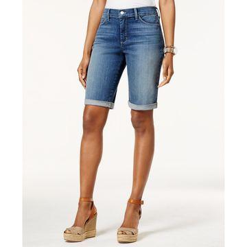 Briella Tummy-Control Cuffed Denim Bermuda Shorts
