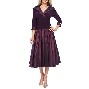 R & M Richards 3/4 Sleeve Fit & Flare Dress