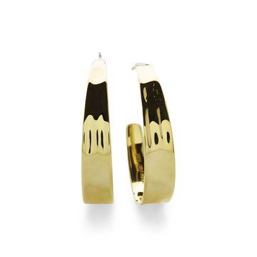 18K Senso Tapered Hoop Earrings