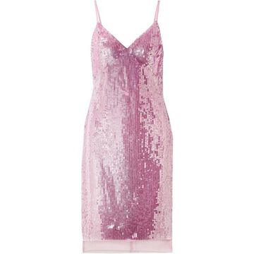 Markus Lupfer - Marlane Sequined Tulle Dress - Pastel pink