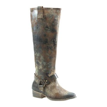 Diba True Women's Flower Child Mid Calf Boot Chocolate Leather