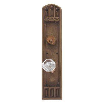 Oxford Single Deadbolt Door Set, Aged Brass, 3-3/8