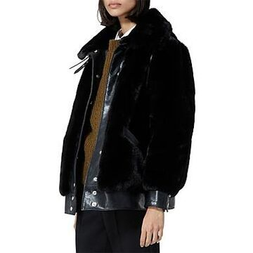 The Kooples Faux Fur Bomber Jacket