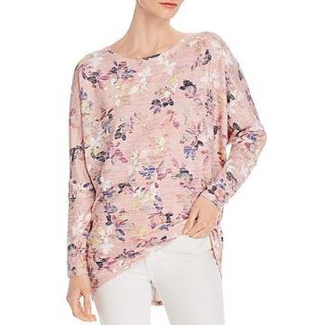 Cupio Floral-Print Dolman-Sleeve Top