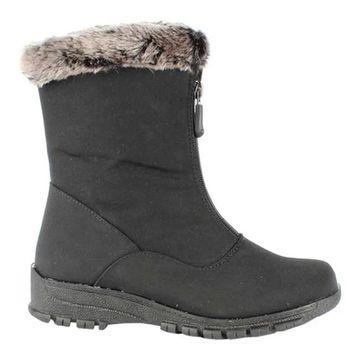 Toe Warmers Women's Colleen Waterproof Mid Boot Black Textile