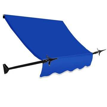 Awntech New Orleans 76.5-in Wide x 16-in Projection Bright Blue Solid Fixed Window/Door Awning | NO21-L-6BB