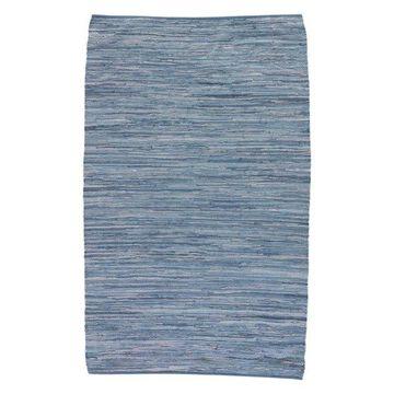 Jaipur Living Raggedy Handmade Solid Blue Area Rug, 9'x12'