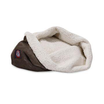 "Majestic Pet 17"" Villa Micro-Velvet Burrow Dog Bed"