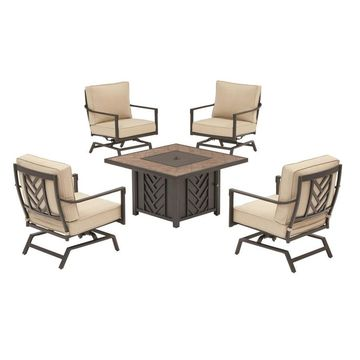 allen + roth Northvale 5-pc Fire Chat Set