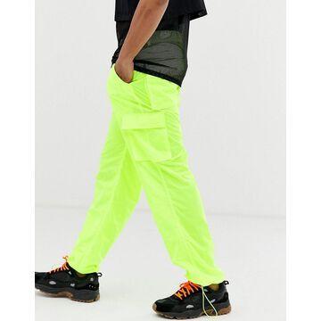 Jaded London cargo pants in neon yellow