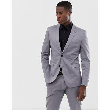 Esprit slim fit suit jacket in gray