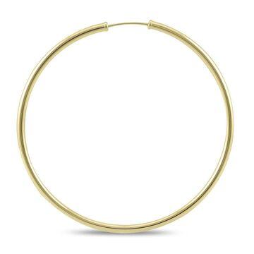 Marquee Jewels 14k Yellow Gold 50-millimeter Endless Hoop Earrings (Yellow)