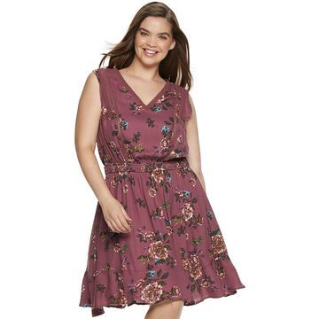 Juniors' American Rag Sleeveless Flounce Dress
