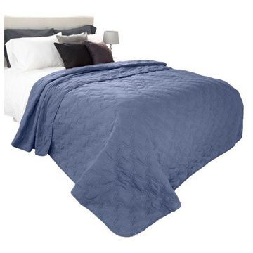 Solid Color Quilt by Lavish Home King, Navy