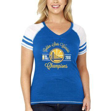 Golden State Warriors Soft as a Grape Women's 2018 NBA Finals Champions Multi-Count Colorblock Plus Size T-Shirt - Royal